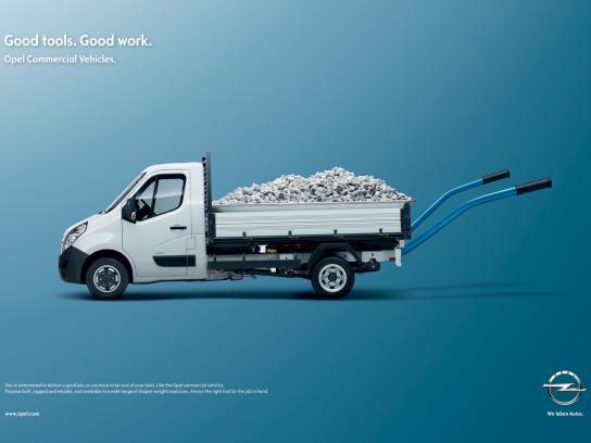 Opel Print Ad -  Wheel barrow