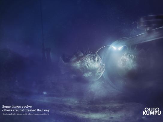 Outokumpu Print Ad -  Angler fish