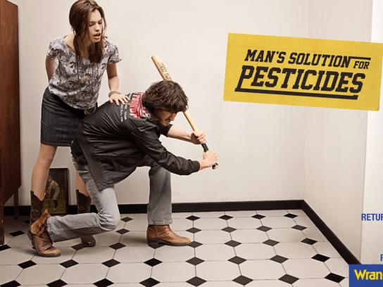 Wrangler Print Ad -  Man's solution for pesticides