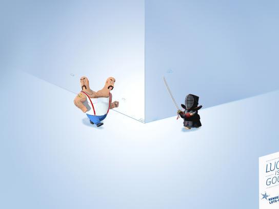 Rendez-Vous Loto-Québec Print Ad -  Siamese Twins