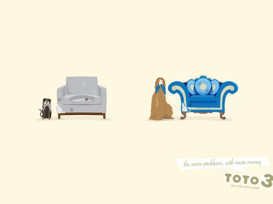 Toto 3 Print Ad -  Sofa