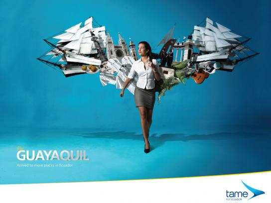 Tame Ecuador Airlines Print Ad -  Fly Guayaquil