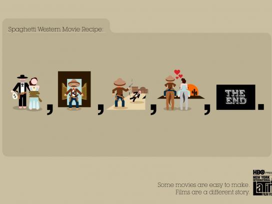NYILFF Print Ad -  Spaghetti Western Movie Recipe