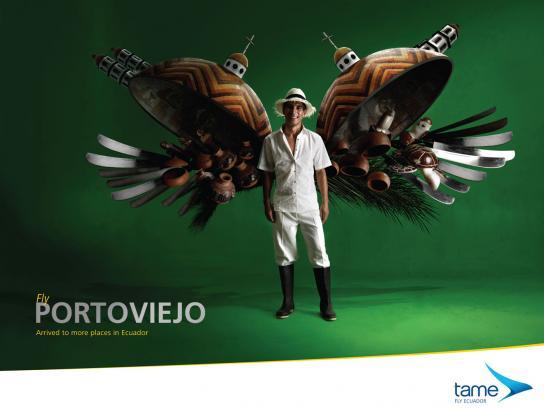 Tame Ecuador Airlines Print Ad -  Fly Portoviejo