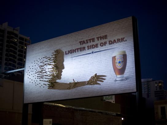Newcastle Brown Ale Outdoor Ad -  Shadow Art