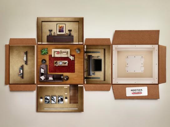Red-Logistics Print Ad -  Living room