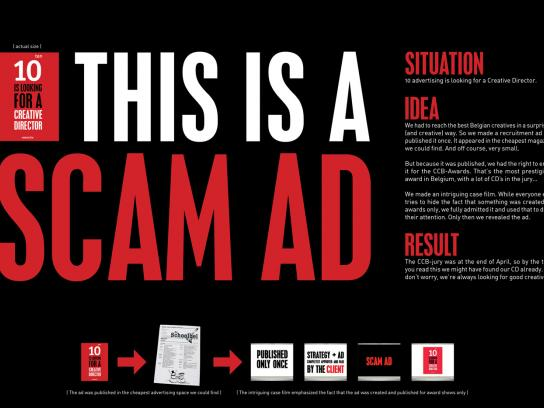 10 Advertising Ambient Ad -  Scam ad