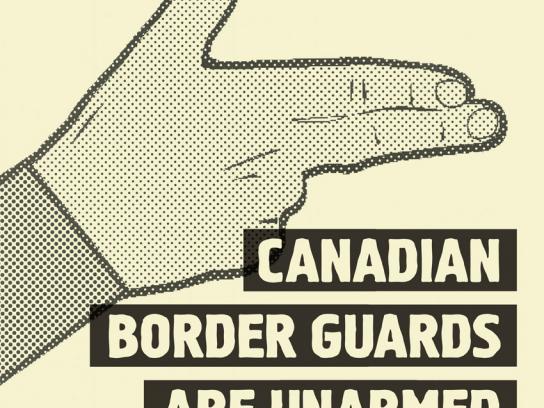 Newstalk 1010 Print Ad -  Border guards