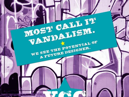 Vancouver Community College Print Ad -  Vandalism