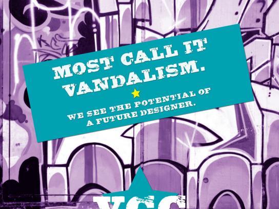 Vancouver Community College Print Ad -  Vandalism