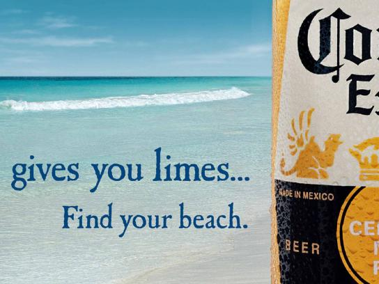Corona Beer Outdoor Ad -  Life lime