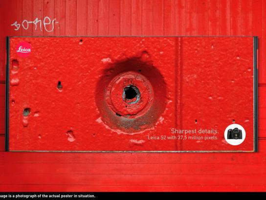 Leica Outdoor Ad -  Sharpest Details, Hole
