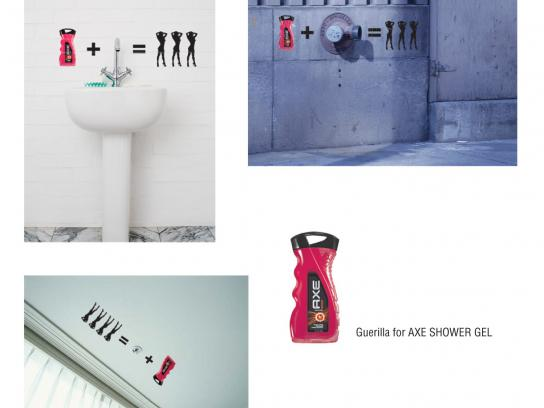 Axe Ambient Ad -  Stickers