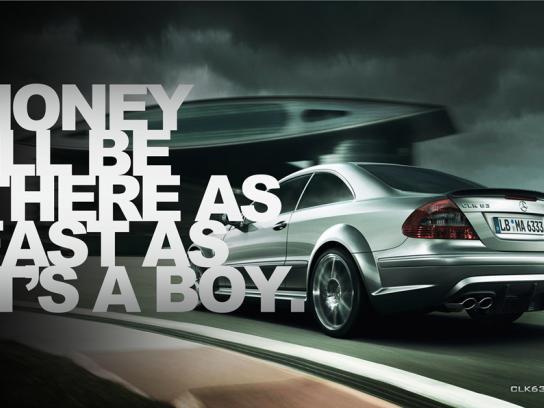 Mercedes Print Ad -  Boy
