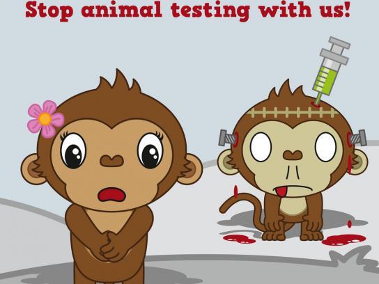 Deutscher Tierschutz Print Ad -  Monkey