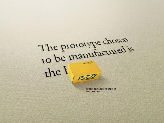 Sedex Print Ad -  Prototype
