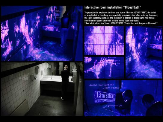 13th Street Ambient Ad -  Blood bath