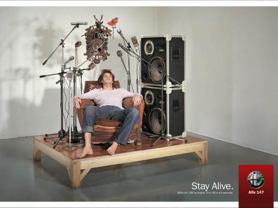 Alfa Romeo Print Ad -  Stay Alive, 1