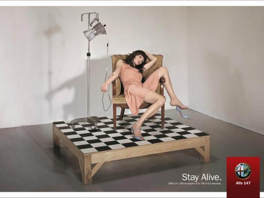 Alfa Romeo Print Ad -  Stay Alive, 2