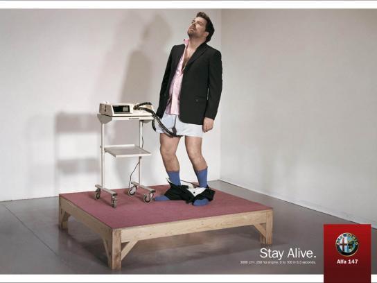 Alfa Romeo Print Ad -  Stay Alive, 3