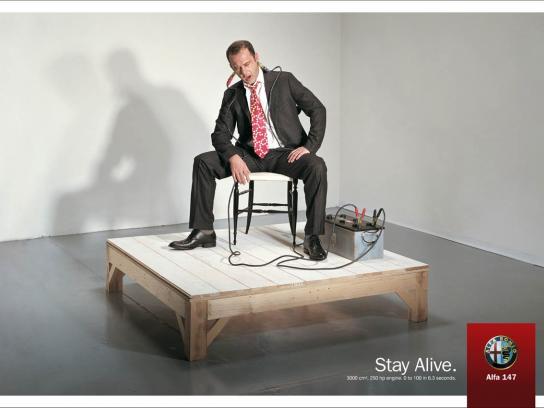 Alfa Romeo Print Ad -  Stay Alive, 4