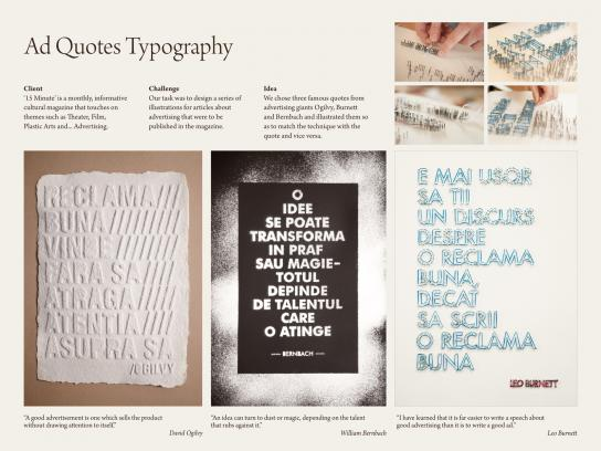 15 Minute Magazine Print Ad -  Ad Quotes Typography