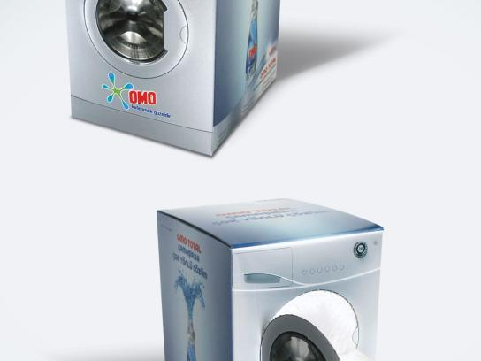 OMO Direct Ad -  Washing machine tissue box