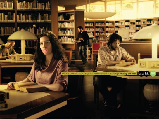 Aralik Dernegi Print Ad -  Pacifier, Woman
