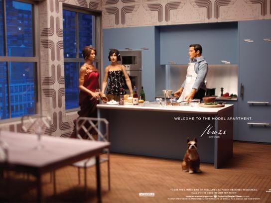The Model Apartment Print Ad -  Kitchen