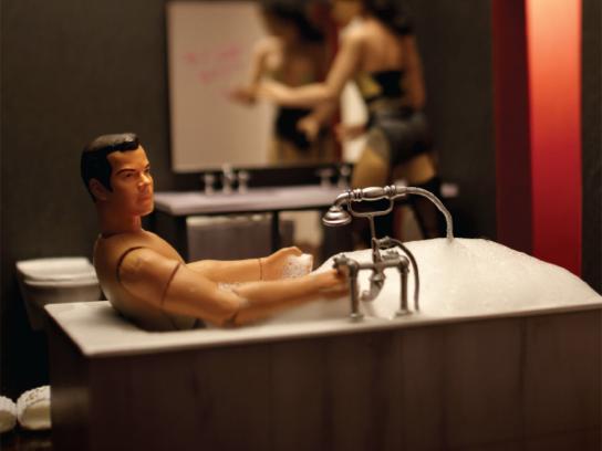 The Model Apartment Print Ad -  Bathroom