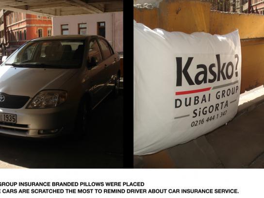 Dubai Group Sigorta Ambient Ad -  Pillow