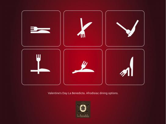 La Benedicta Print Ad -  Afrodisiac dining, 2