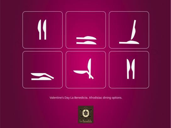 La Benedicta Print Ad -  Afrodisiac dining, 1
