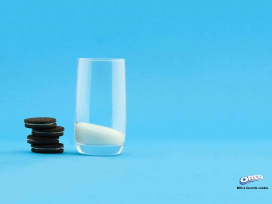 Oreo Print Ad -  Milk's Favorite Cookie