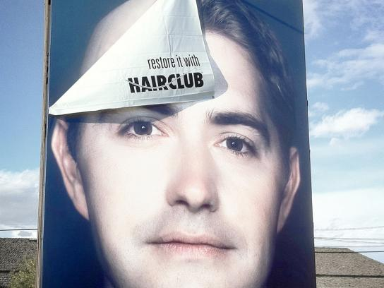 Hair Club Outdoor Ad -  Restore it 3D Billboard