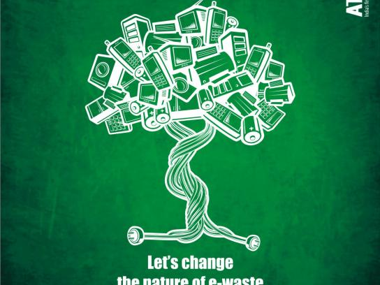 Attero Print Ad -  Let's change the nature of e-waste