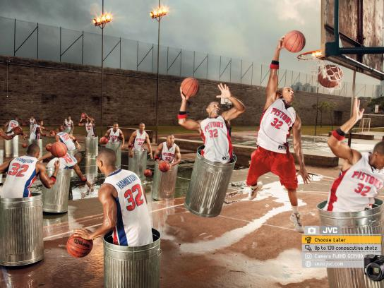 JVC Print Ad -  Choose Later, Basketball