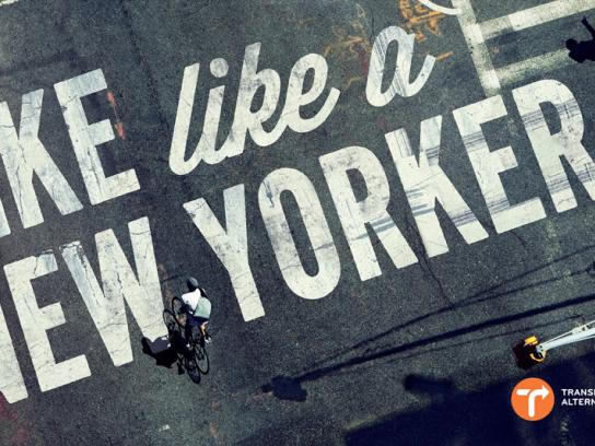 BikeNYC Outdoor Ad -  Bike like a New Yorker