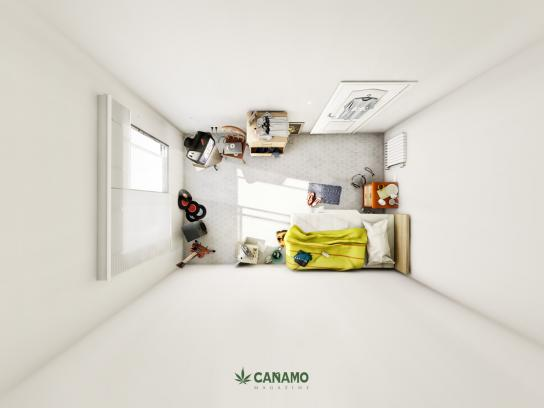 Cañamo Magazine Print Ad -  Bedroom