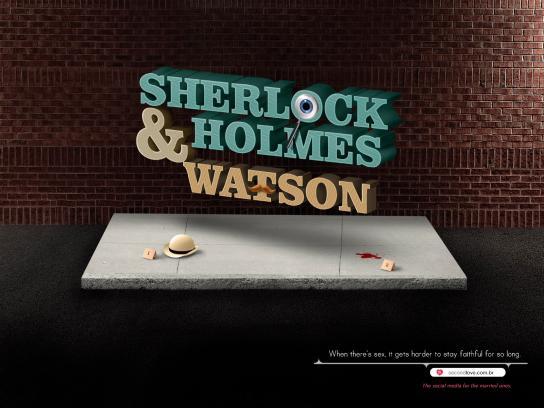 Second Love Print Ad -  Couple, Sherlock