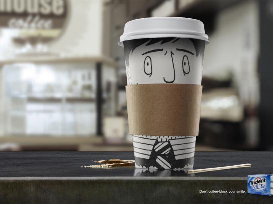 Trident Print Ad -  Coffee block, 1