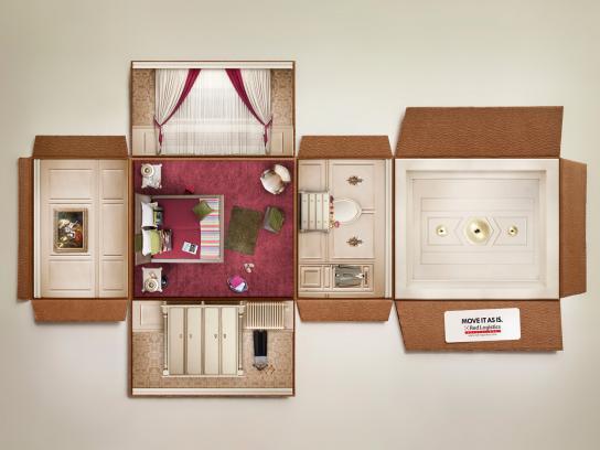 Red-Logistics Print Ad -  Bedroom