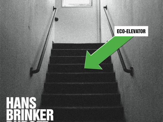 Hans Brinker Print Ad -  Eco-elevator