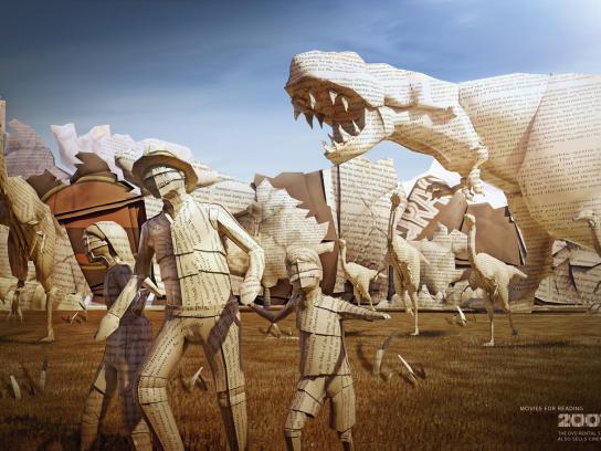 2001 Print Ad -  Jurassic Park