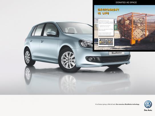 Volkswagen Print Ad -  Mveledzo Community Organisation