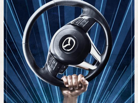 Mazda Print Ad -  Skyactiv Revolution, Man & Machine
