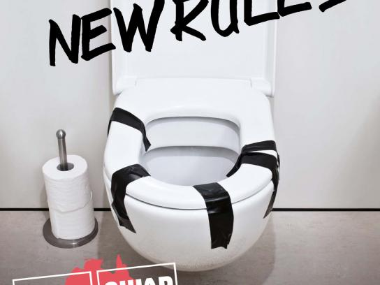 Wife Swap Print Ad -  Toilet