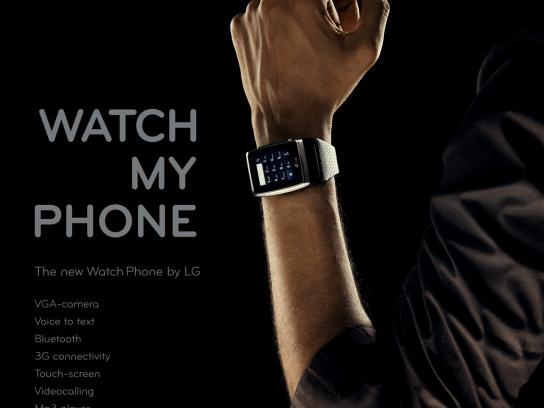 LG Print Ad -  Watch my Phone
