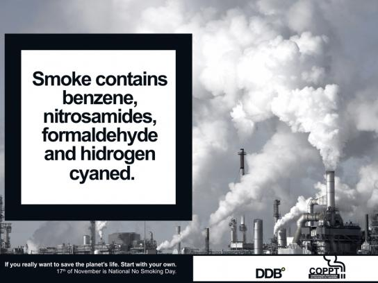 COPPT Print Ad -  National No Smoking Day, Chimney