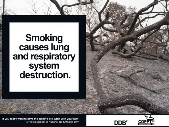 COPPT Print Ad -  National No Smoking Day, Tree